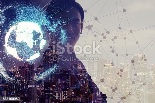 889231130istockphoto Global network concept. Internet of Things. Artificial Intelligence. 875499980