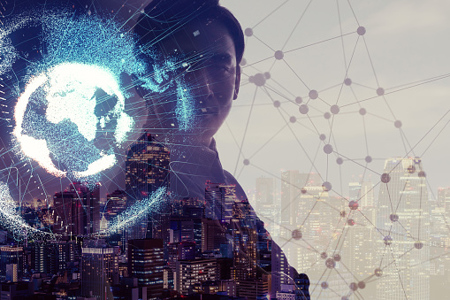 872670560 istock photo Global network concept. Internet of Things. Artificial Intelligence. 875499980