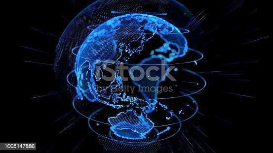 istock Global network concept. 1005147886