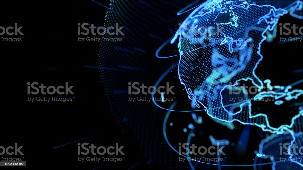 Global network concept. stock photo