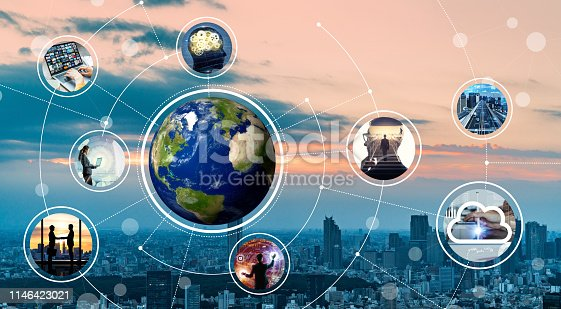 istock Global network concept. 1146423021