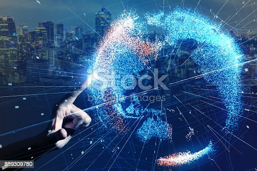 istock Global network concept. 889309780