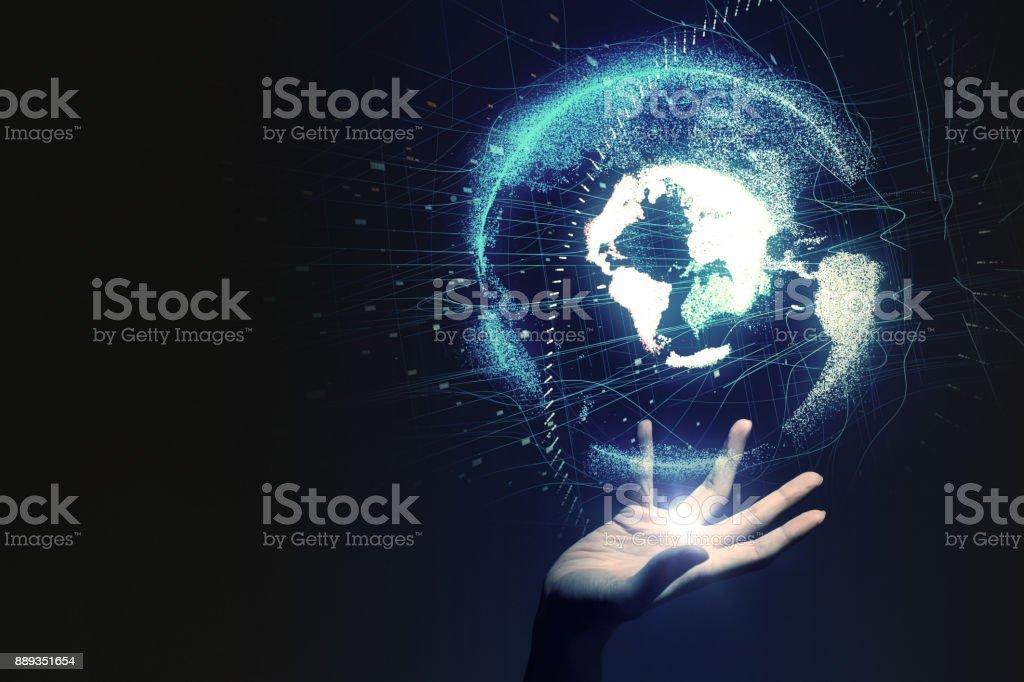 Concept de réseau mondial. - Photo