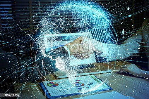 istock Global network concept. 913629624