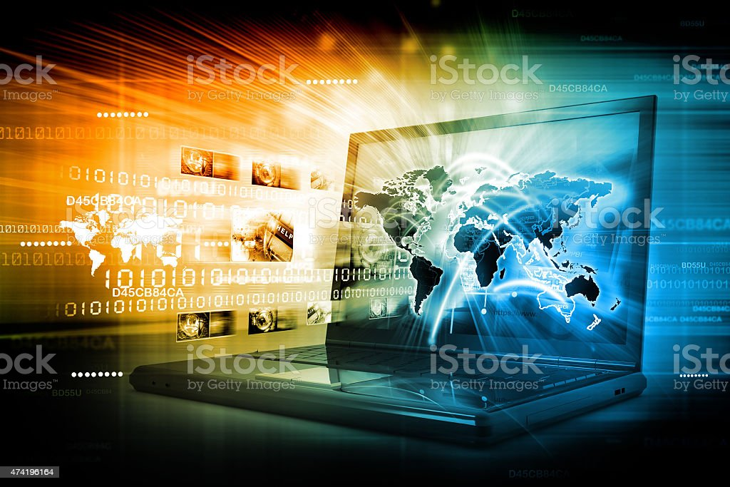 Global network connection stock photo