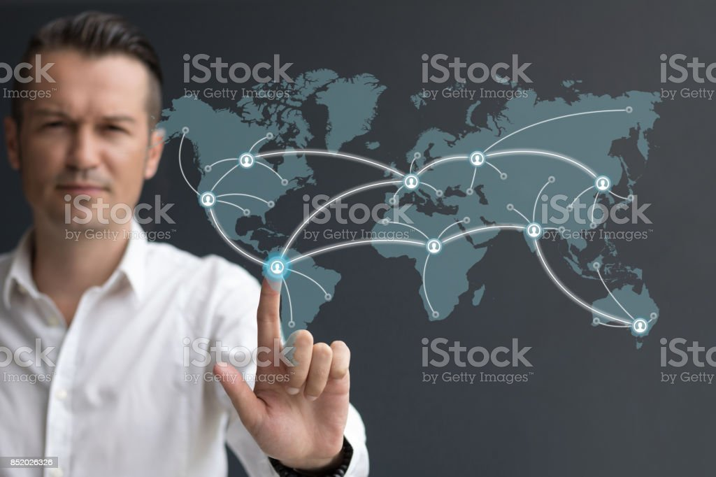 Global network connection. royalty-free stock photo