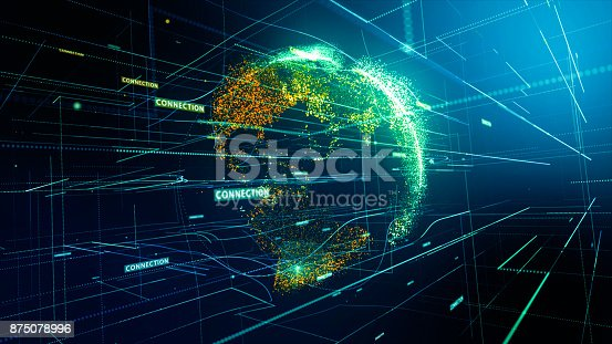 istock Global network connection 875078996