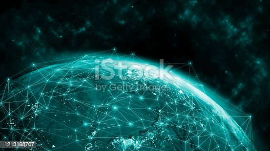 1141355850 istock photo Global network modern creative telecommunication and internet connection. 1213168707