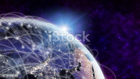 1141355850 istock photo Global network modern creative telecommunication and internet connection. 1213169243