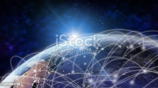 1141355850 istock photo Global network modern creative telecommunication and internet connection. 1222690736