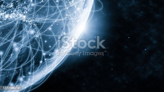 1141355850 istock photo Global network modern creative telecommunication and internet connection. 1222690741