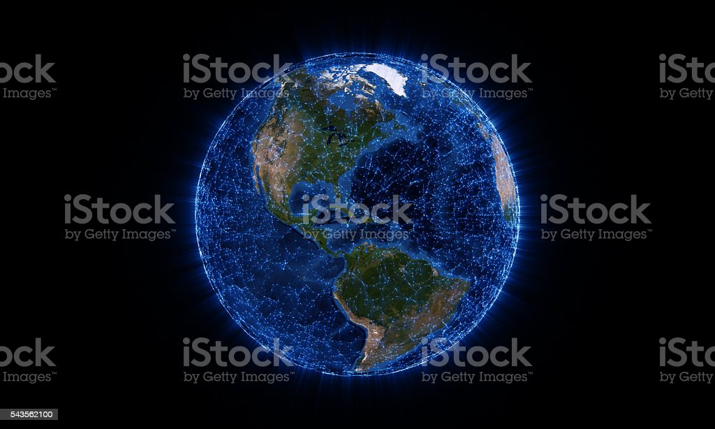 Global network stock photo