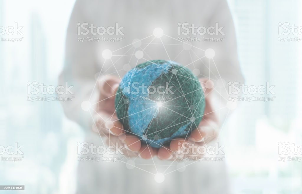 global network - foto stock