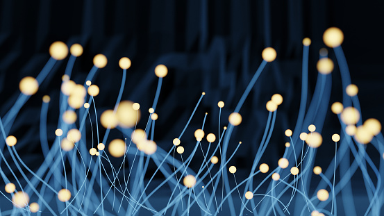 Global network technology - 3d rendered abstract image. Technology  concept.