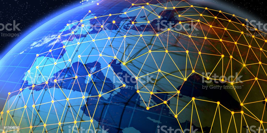 Global networks on abstract world map europe russia stock photo istock global networks on abstract world map europe russia royalty free stock photo gumiabroncs Images