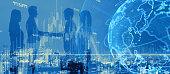 Global netwrok concept. Business partnership.