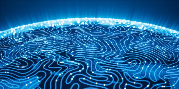 Globales neuronales Netz und Deep Learning (World Map Credits an die NASA) – Foto
