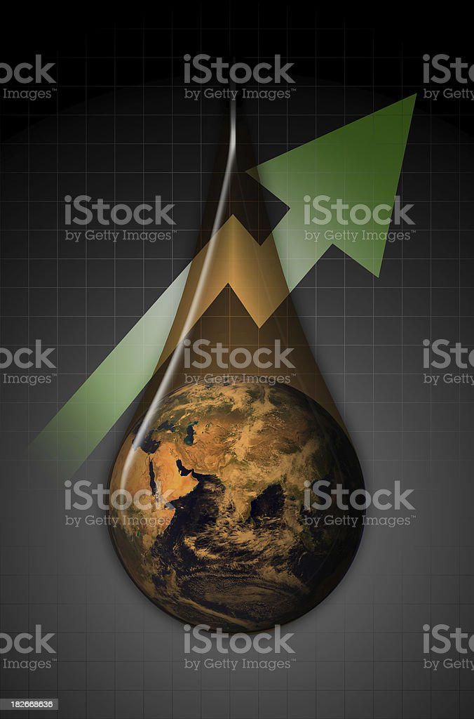 Global Oil Profits East royalty-free stock photo
