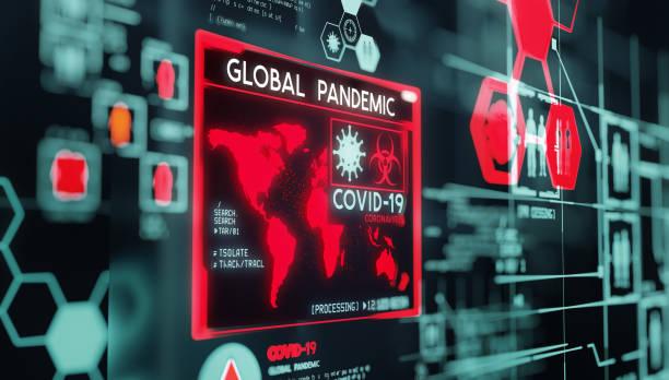Globale Pandemie-Visualisierungsdaten Covid-19 – Foto