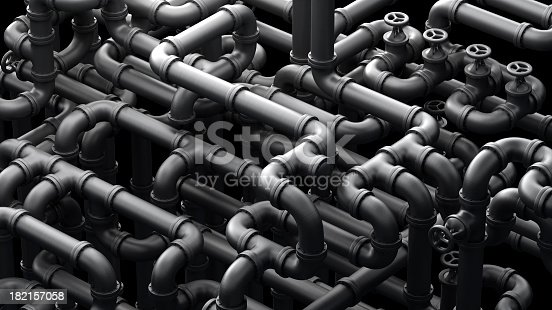 Abstract Industrial 3d illustration
