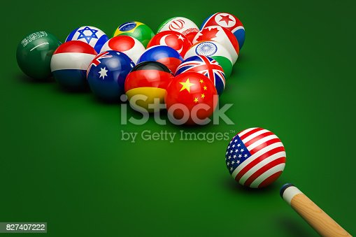 istock Global political confrontation, conflict concept. 3D rendering 827407222