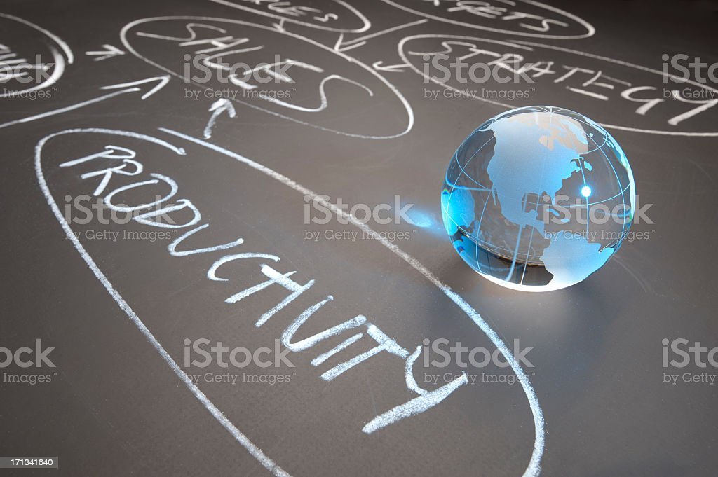 Global productivity and sales concept royalty-free stock photo