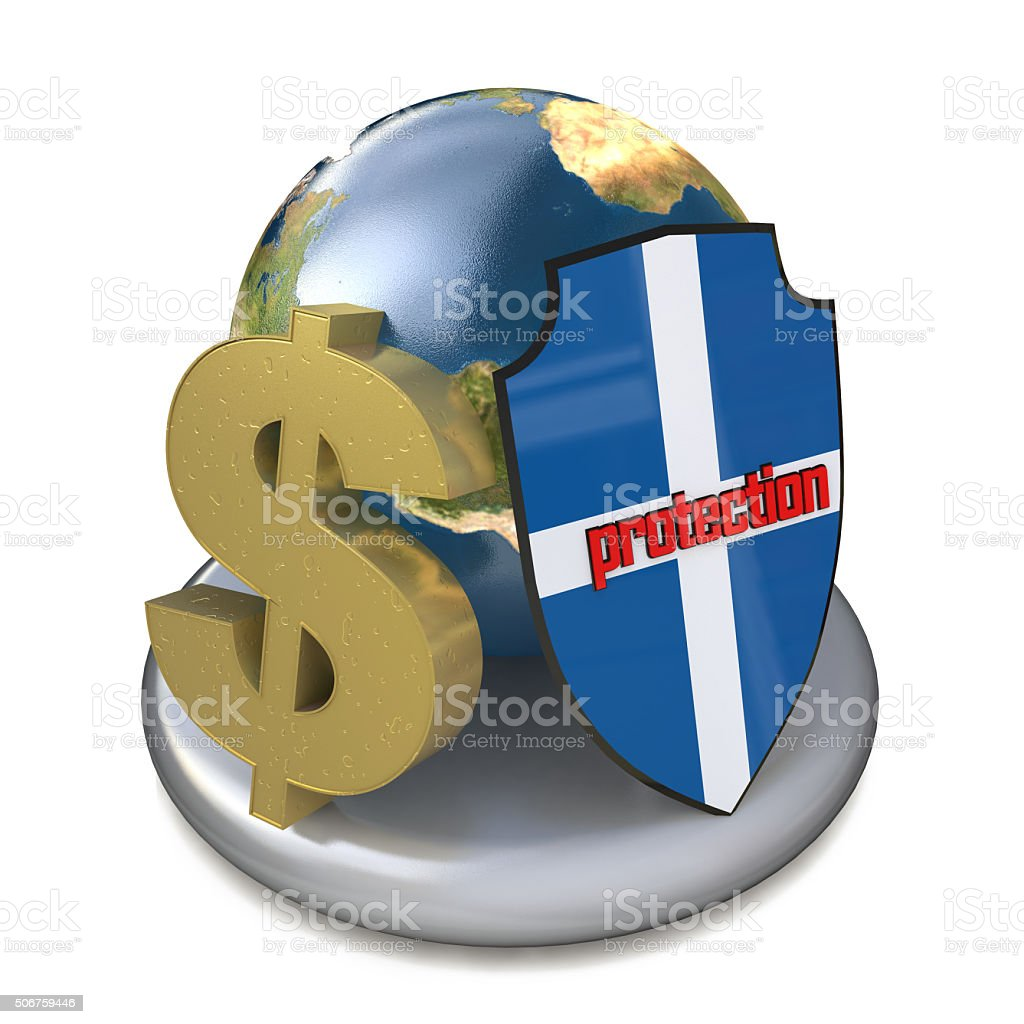 global protection of Finance stock photo