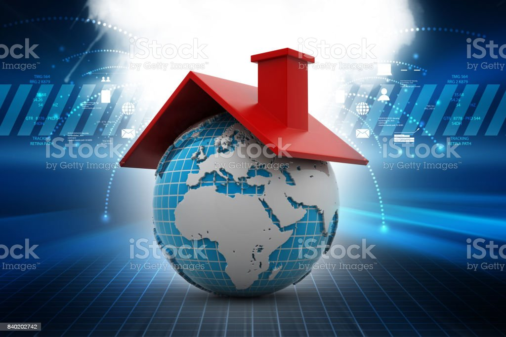 Global real estate concept stock photo