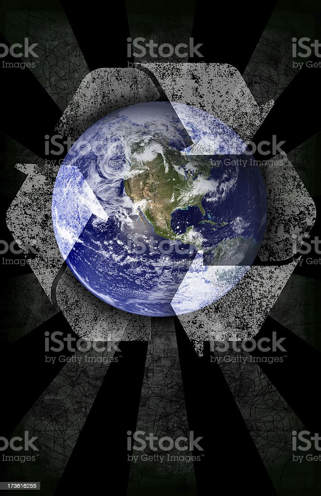 Global Recycle Concept royalty-free stock photo