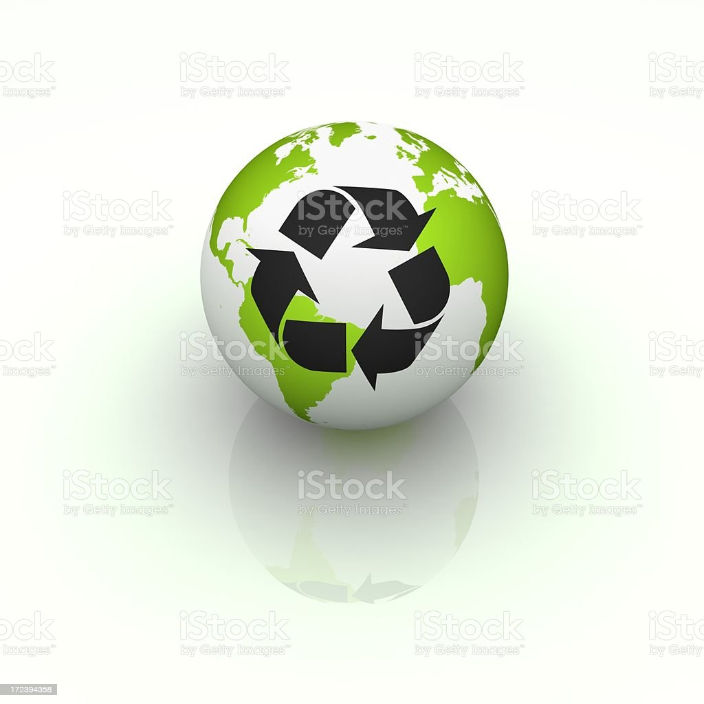 Global recycling royalty-free stock photo