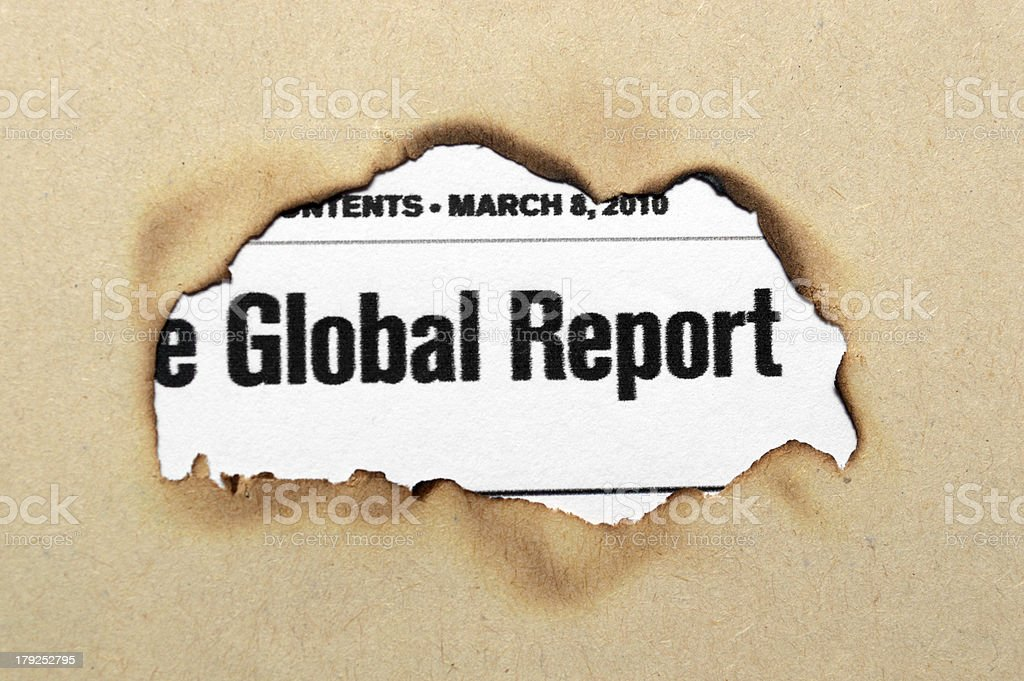 Global report royalty-free stock photo