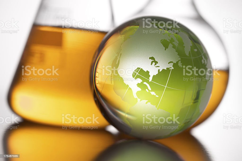 Global scientific research stock photo