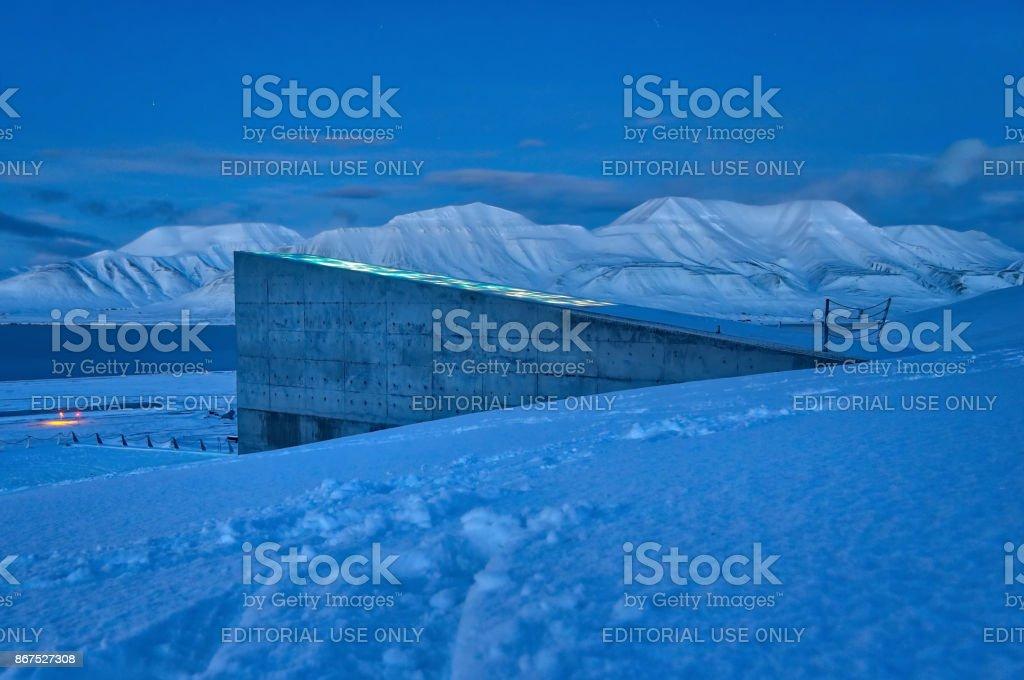 Global seed vault - Svalbard, Norway stock photo