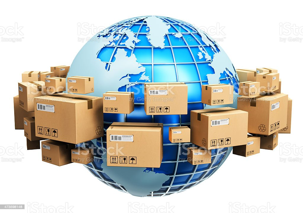 Global shipping concept stock photo