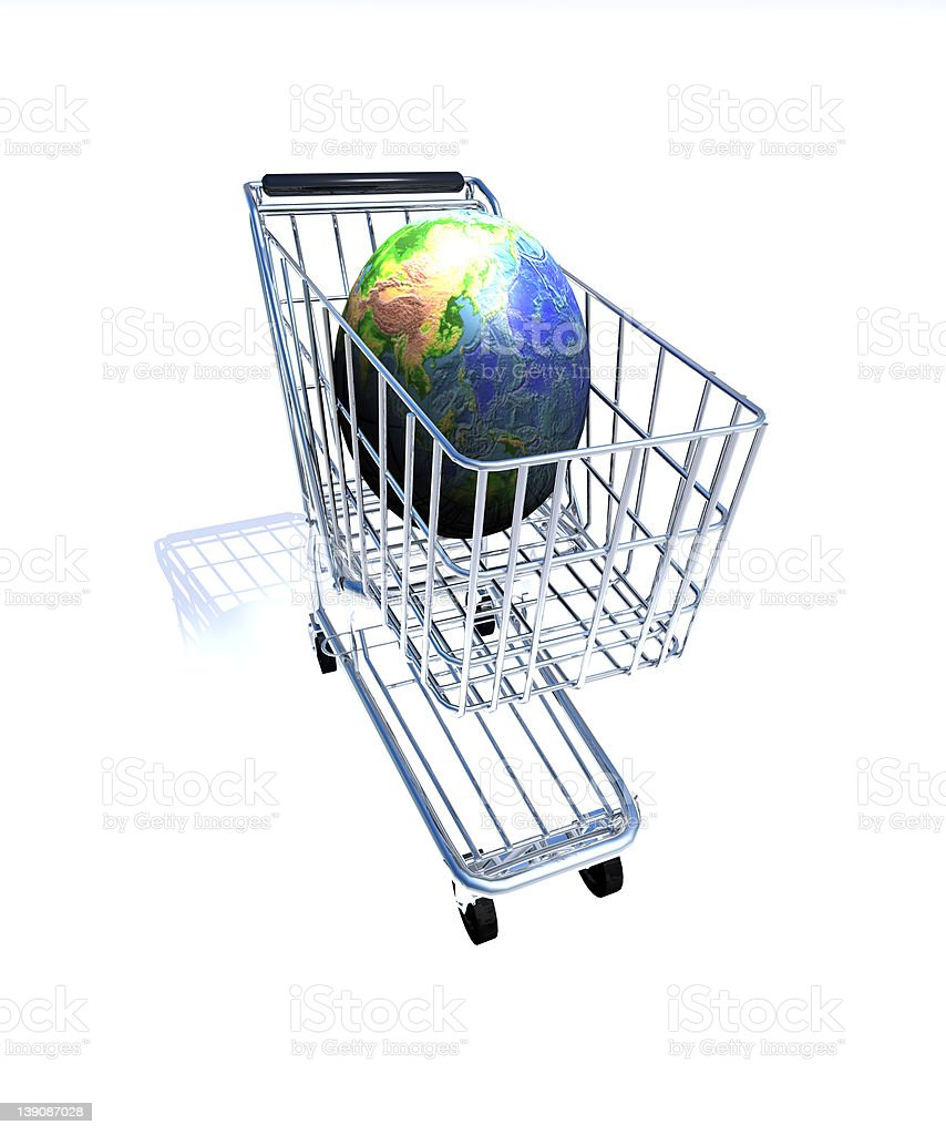 Global Shopping Version 2 royalty-free stock photo