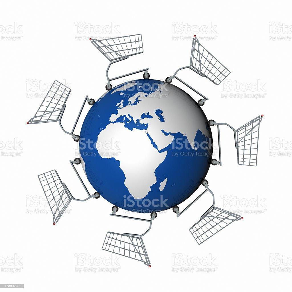 Global Shopping (Europe & Africa) XL+ royalty-free stock photo