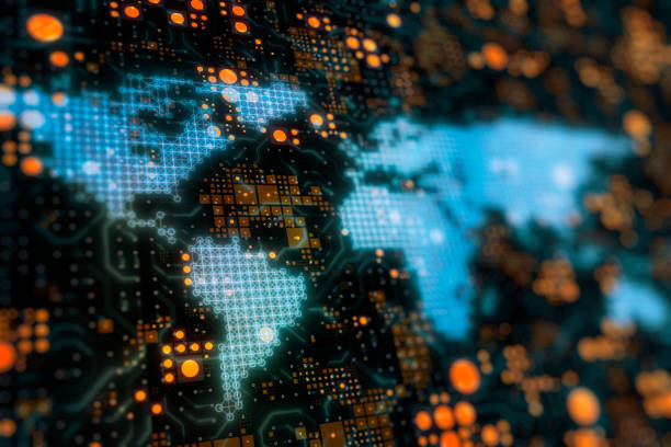 Globale Netzwerke für soziale Verbindungen – Foto