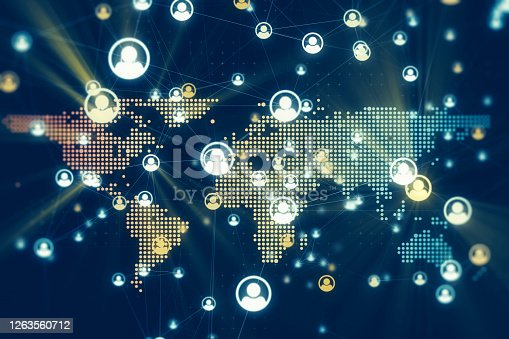 811259350 istock photo Global Social Media Network Connection 1263560712