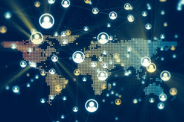 Global Social Media Network Connection stock photo