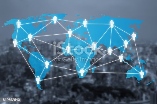656082444 istock photo Global social network or people management diagram icons 612652540