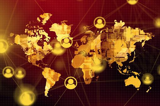 istock Global Social Network 1143460796
