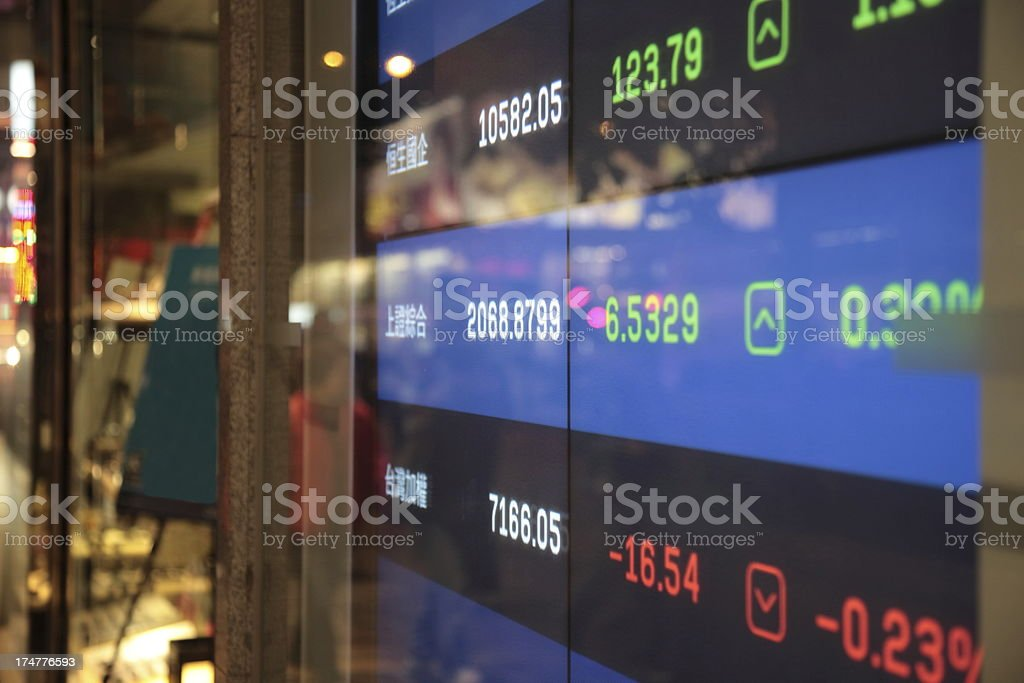 Global stock market charts royalty-free stock photo