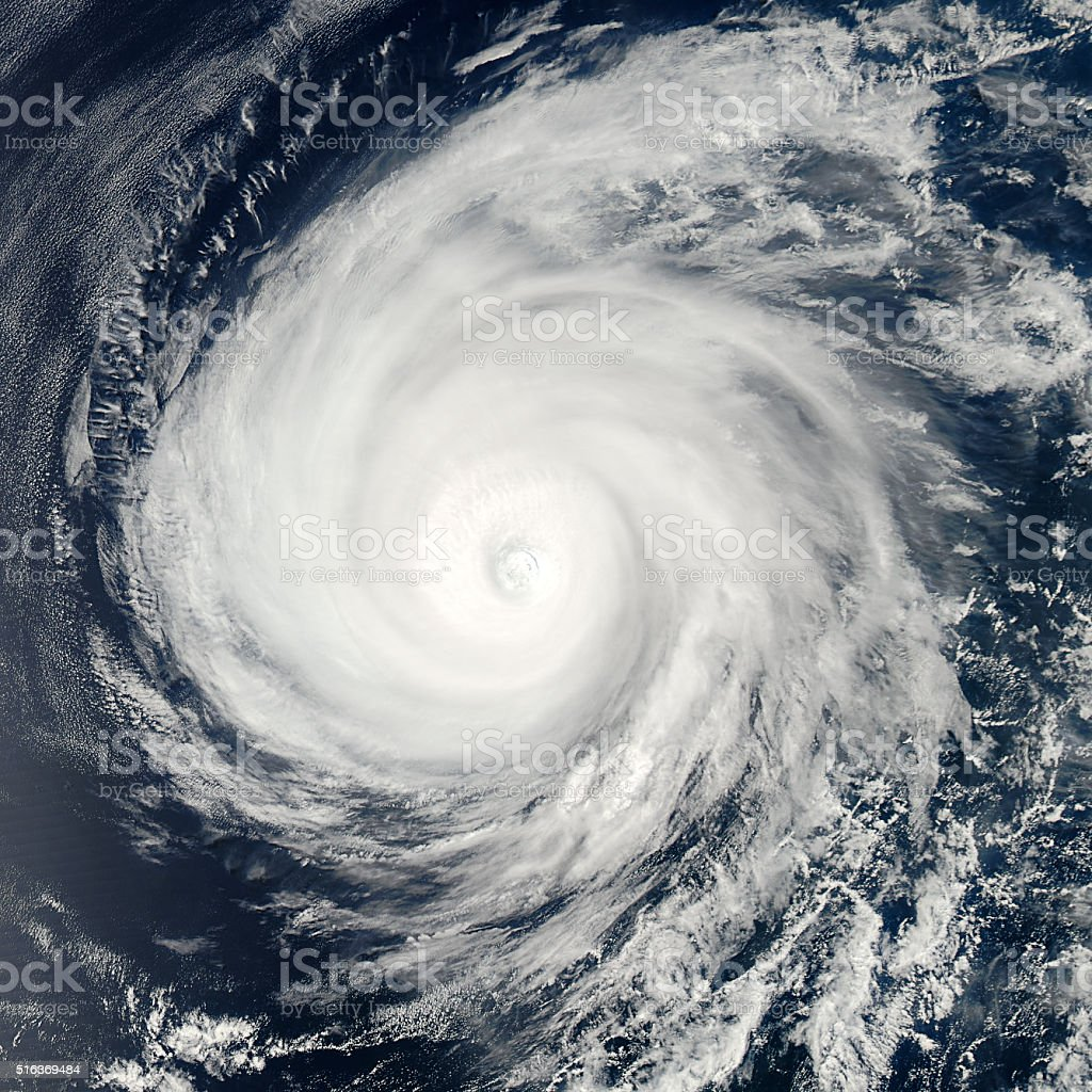 Global storm space vortex. stock photo