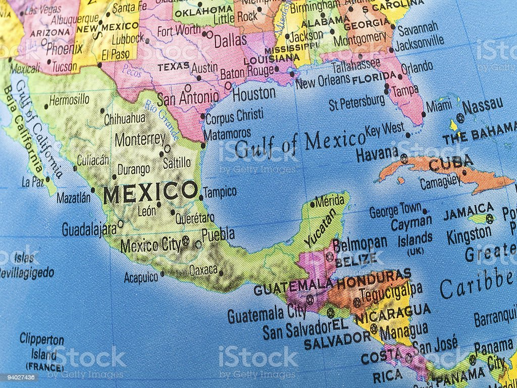 Global Studies - Mexico and Central America stock photo
