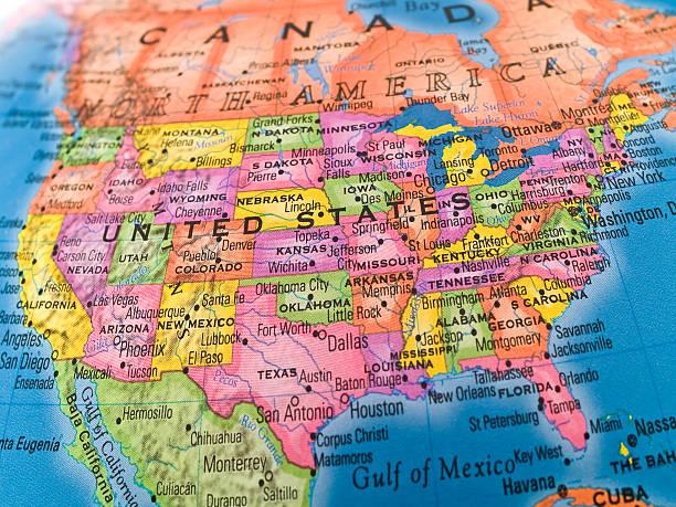 estudios globales-estados unidos - us map fotografías e imágenes de stock