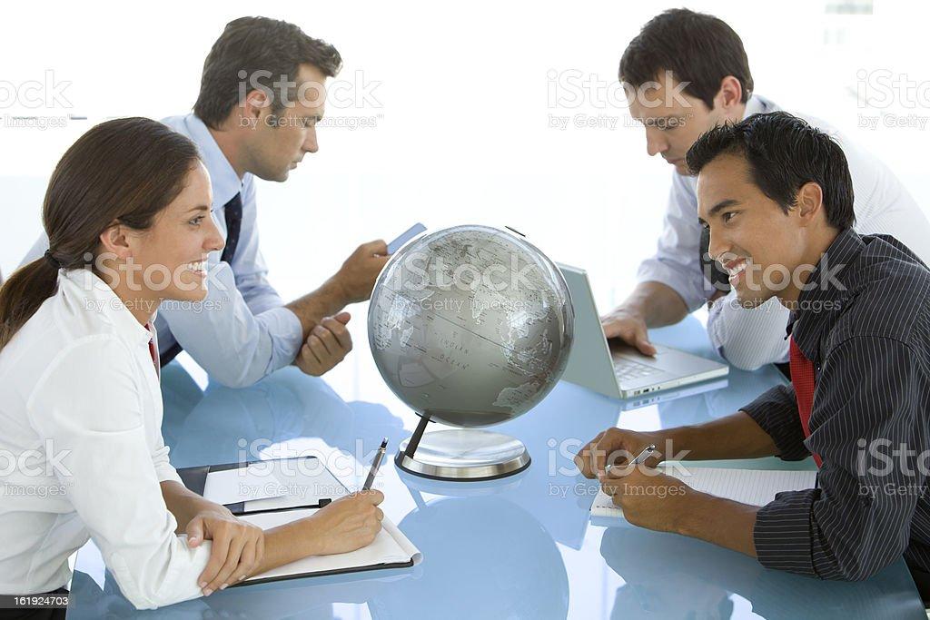 Global Talks royalty-free stock photo