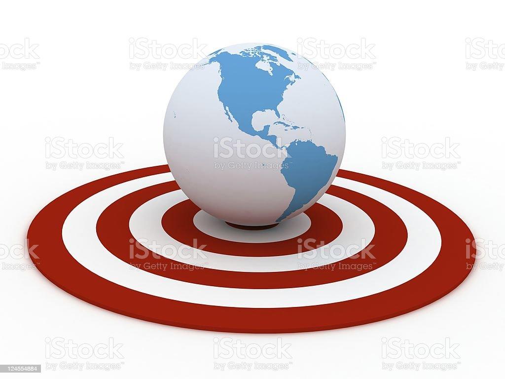 Global Target royalty-free stock photo