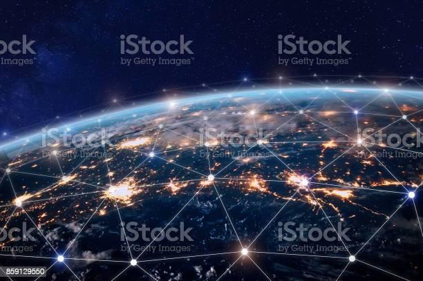 Global telecommunication network nodes connected around earth picture id859129550?b=1&k=6&m=859129550&s=612x612&h=gqfzdntfwie9fhwhbfokoq1cjcgc8lpiqumjv2tcx78=