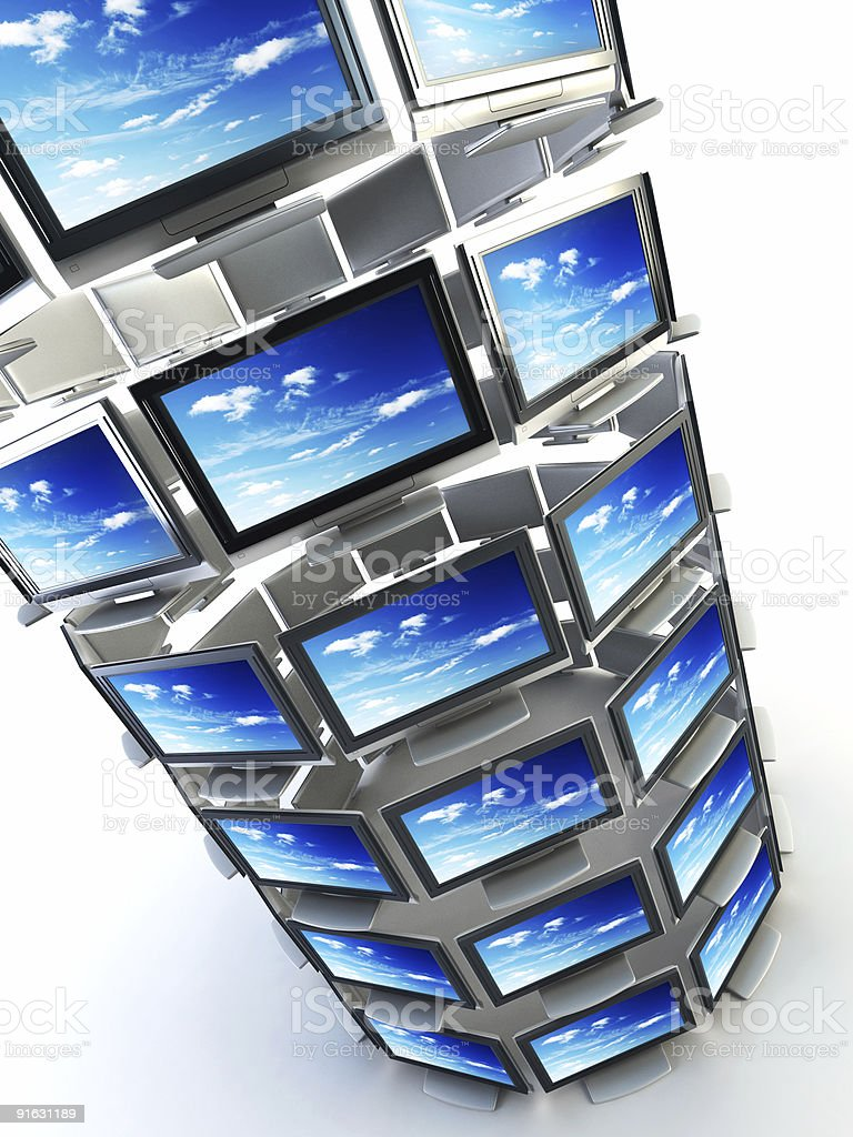 global television concept stock photo