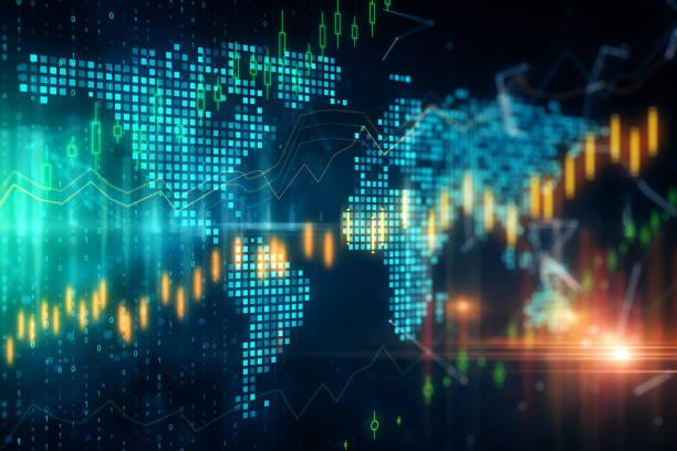 globales handels- und investitionskonzept - internationale geschäftswelt stock-fotos und bilder